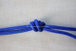 Touwhalster- Kobaltblauw